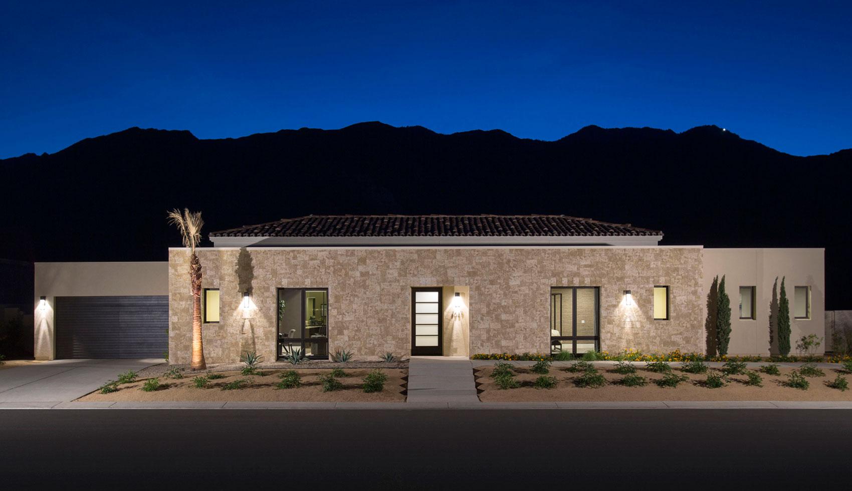 Modern villa poon design inc for Contemporary tuscan homes
